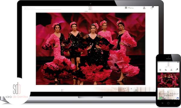 diseño tienda online para trajes de flamenca en cordoba