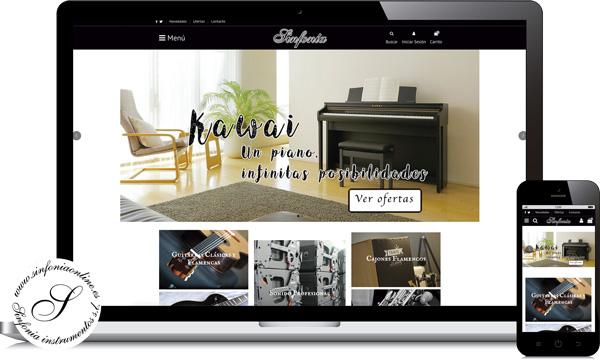 diseño web para tienda de instrumentos musicales en ecija