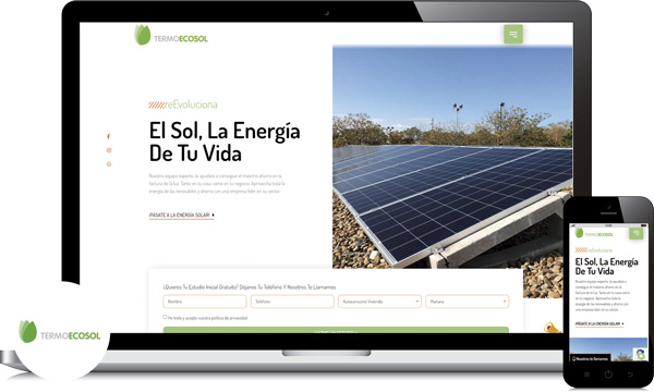 diseño web para empresa de energias renovables